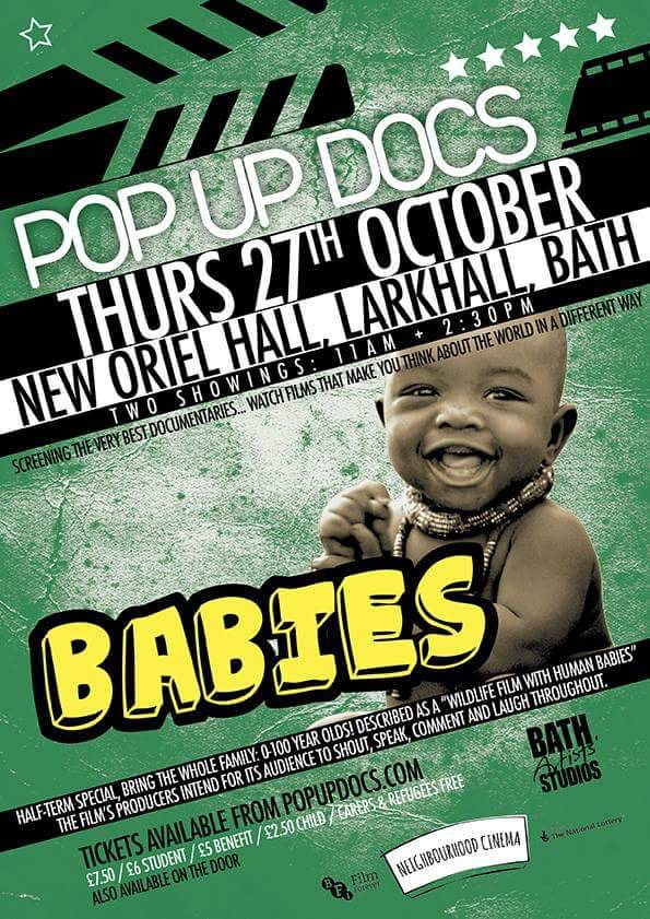 Pop Up Docs – 'Babies' Screening at 11.00 and 2.30
