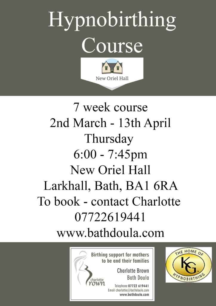 7 Week Hypnobirthing Course starting Thursday 2nd March – Cancelled