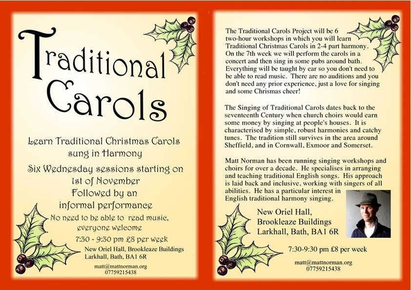 NEW! Traditional Carol Project