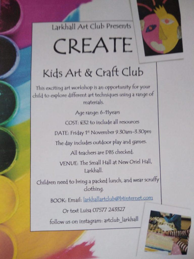 Larkhall Art Club – Create 1st November