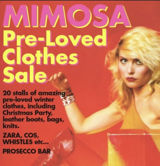 Mimosa Pre-Loved Clothes Sale – Friday 29th November 7.00pm