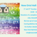 New Oriel Hall Puzzle Club Starting 20th October